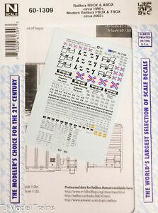 Microscale Decal #60-1309 Railbox RBOX, ABOX Crica 1990+ (Decal Sheet)