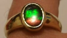 ESTATE AMMONITE AMMOLITE? YELLOW GOLD RING SIZE 8 ABOUT 4.6 GRAMS SIGNED&TESTED