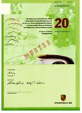 Dr. Ing. h. c. F. Porsche AG - Vorzugsaktie 20 Stück  - Stuttgart 2001 - Muster