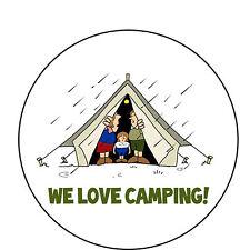✿ 24 Commestibili Carta di riso COPPA Torta TOPPINGS-Tenda Campeggio glamping ✿