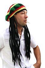 Strickmütze mit Rasta Dreadlocks Rastafari Reggae Jamaica Rasta-Look Mütze Jah