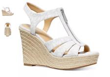Michael Kors Berkley Wedge Bright White Espradrille Women's sizes 6-11/NEW