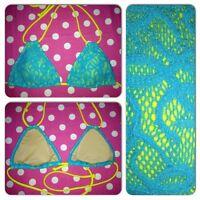Victoria's Secret Swimwear Triangle Padded Push Up Halter Bikini Swim Top