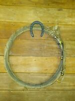 """Old Rustic Lasso Rope, """"Retired"""" Cowboy Lariat, Vintage Western Wall Hang Decor"""