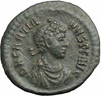 Gratian 378AD Authentic Ancient Roman Coin Wreath  i54870