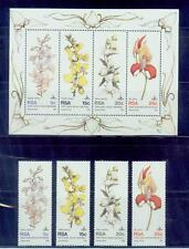 rsa/1981 rare orchids 4s+s/s. /mnh.good condition