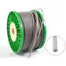 304Stainless Steel Clear Black PVC Coated Wire Rope Lifting Metal Cable 0.6-12mm