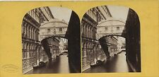 Venice Venezia Italia Italie Stereo Gaudin Paris Vintage albumine ca 1860