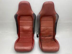 GENUINE VAUXHALL VX220 TURBO SEATS PAIR RED LEATHER : LOTUS ELISE EXIGE MX5