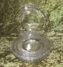 Tiffin Franciscan Simplicity Crystal Bread & Butter Plates Set of 6