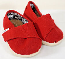 Bebé Zapatos Toms pequeño clásicos Rojo Uk Size 3 Infantil (H)