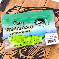 "GARY YAMAMOTO Lizard Soft Creature Bait 4.5"" 10ct - CHARTREUSE BLACK FLAKE"