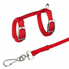 Ferret or Rat Harness & Lead Set Red Harness with Matching Leash
