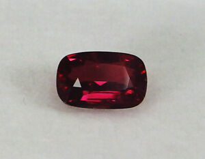 GIA Certified Unheated Natural Ruby Pigeon's blood Red Cushion Rare