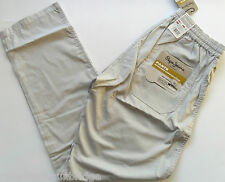 PEPE Jeans Trousers Men's Worker Draw String Casual Pants Cotton Silver S - XL