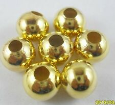 800Pcs Metal  Gold color Small Round Smooth Loose Spacer Beads 2.5mm