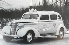 "12 By 18"" Black & White Picture 1938 Chevrolet Long wheel base Taxi"