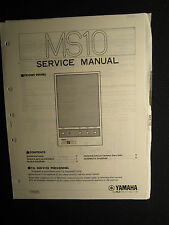 Yamaha Guitar Amplifier MS10 Service Shop Manual Schematics Parts List MS 10