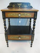 Hitchcock chair chairs co black/harvest Commode night stand