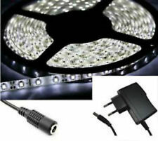 STRISCIA LED bianco freddo SMD 300LED 5M 5 METRI - Alimentatore 12V incluso -