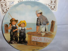 Fish Story`1983`1 Issue`Collectors Plate`Edwin Knowles->Free To Us