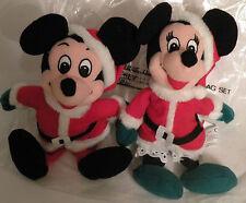 WDCC Mickey & Minnie (Santa) Bean Bag Set  (Retired)