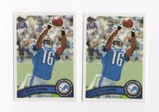 LOT OF 2 2011 TOPPS #19A TITUS YOUNG ROOKIE CARD NM/MT RC 19 FOOTBALL ABOVE HEAD