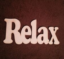 Wooden Sign Word Relax Decor 3 Mm Mdf Plaque Blank