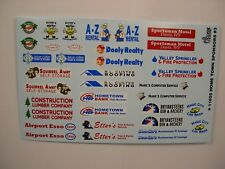 HOMETOWN SPONSOR SET #3 GOFER RACING DECALS FOR 1:24 and 1:25 SCALE MODEL CARS