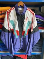 Vintage 90's Adidas Originals Shell suit Track Top D8 XL