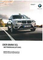 2015 BMW X3 F25 BORDBUCH BETRIEBSANLEITUNG HANDBUCH BEDIENUNGSANLEITUNG DEUTSCH