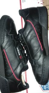 Adidas Continental 80 Mens -  Size 12- Black - Navy - Scarlet Stripe