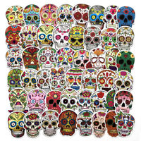 50-60 Skull Skateboard Longboard Vintage Vinyl Sticker Laptop Luggage Car Decals