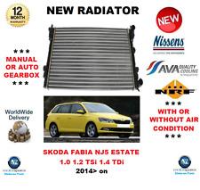 FOR SKODA FABIA NJ5 ESTATE 1.0 1.2 TSi 1.4 TDi 2014> NEW RADIATOR * OE QUALITY *