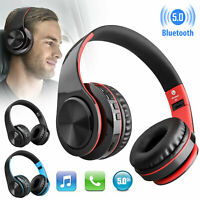 Bluetooth 5.0 Headphone Headset w/Mic Noise Isolating Foldable Stereo Earphone