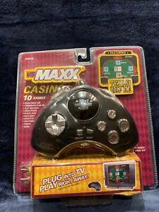 VS MAXX 10 Plug N Play Plus Casino Texas Hold'em Blackjack & More Games NEW