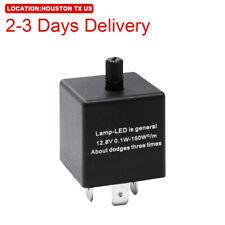 US Location CF13 3-Pin Adjustable LED Flasher Relay Turn Signal Indicator Light