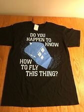 NEW NWT Doctor Who Tardis Do-You-Happen-To-Know-How-To-Fly-This-Thing T-Shirt DR