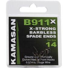 KAMASAN B911 X-STRONG SPADE END BARBLESS FISHING HOOKS ALL SIZES COARSE MATCH