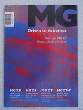 BROCHURE MG 2002-ZR, ZS, ZT, Zt-T, TF. Nuovo di zecca. accessori, specifiche, i colori