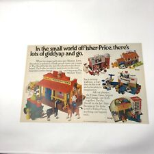 1983 vintage Fisher-Price Western Town Jetport Farm Garage House toys ad 2 page
