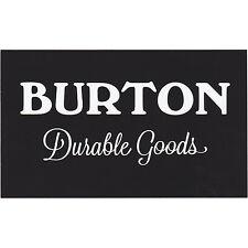 "BURTON 'Durable Goods' Logo Licensed Sticker, 5""x 3"" Black/White -NEW"