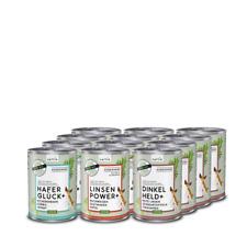 naftie veganes Hundefutter Bio Nassfutter Mixpaket mit 3 Sorten, 12x400g