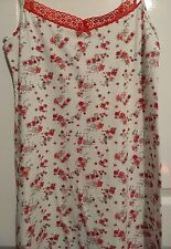 NEW Mark and Spencer Nightwear Nightdress Size 12 Colour Cream Mix reds