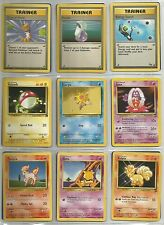 POKEMON CARD LOT 3 Trainers/15 Pokemon/9 Energy 1st Series Used/High Grade VF/NM