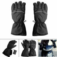 Schwarz Motorrad Wärmer Beheizbare Motorradhandschuhe Handschuhe Wasserdicht Neu