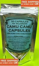 Camu Camu 50 Capsules (100% Pure) 700mg Chaque