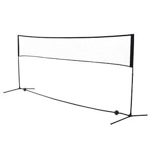 Badmintonnetz 2 Höhen 94/158cm Volleyball- und Tennis-Netz Tragbar Tragetasche