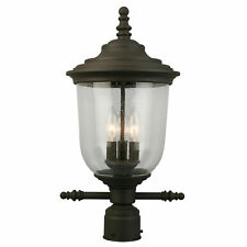 """New listing Eglo 202878A Bronze Pinedale 3-Light 21""""H Outdoor Single Head Post Light"""