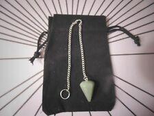 Pendulum kit-Chart & Instructions & Pendulum Green Aventurine Dowsing Board